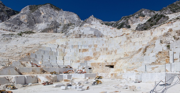 Carrara white marble quarries